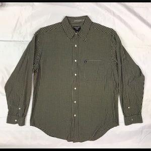 Ralph Lauren Jeans Co Med Long Sleeve Green Plaid